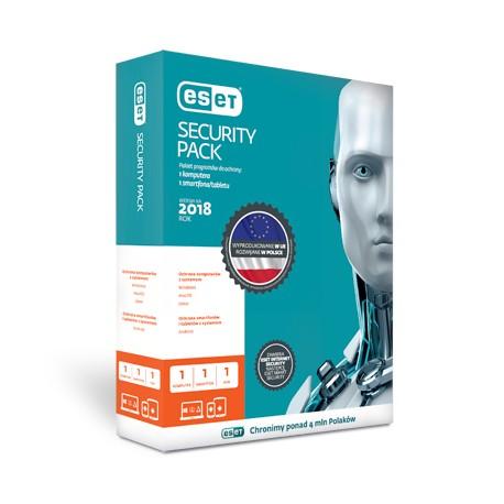 Przedłużenie licencji ESET Security Pack 1+1 na 2 lata (1 komputer + 1 smartfon)
